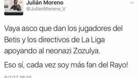 Tuit del concejal de Podemos.