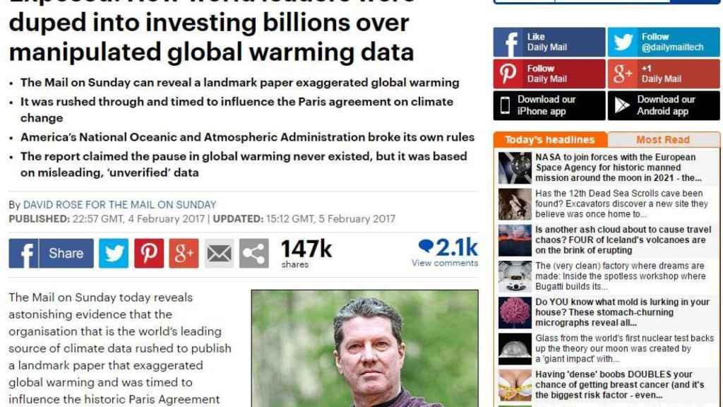 El polémico artículo del Daily Mail publicado el 4 de febrero.