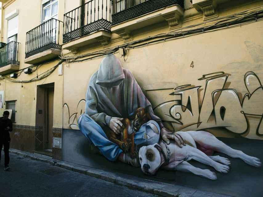 Grafitis del barrio de Lagunillas, en Málaga.