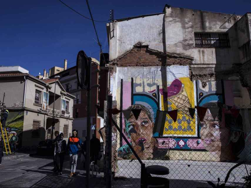 Grafiti del barrio Lagunillas.