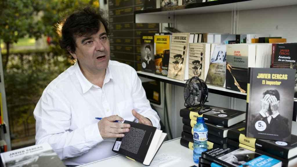 Javier Cercas en la presentación de uno de sus libros.