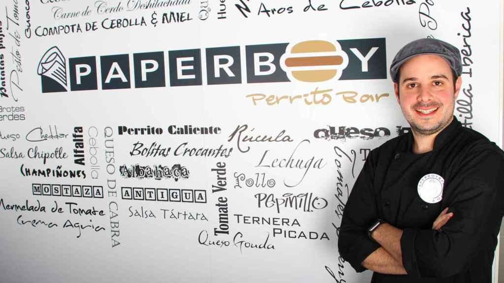 Alfonso Bortone, el dueño de PaperBoy Perrito Bar.