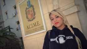 Melisa Rodríguez, portavoz de HSM, en el antiguo palacete de Defensa.