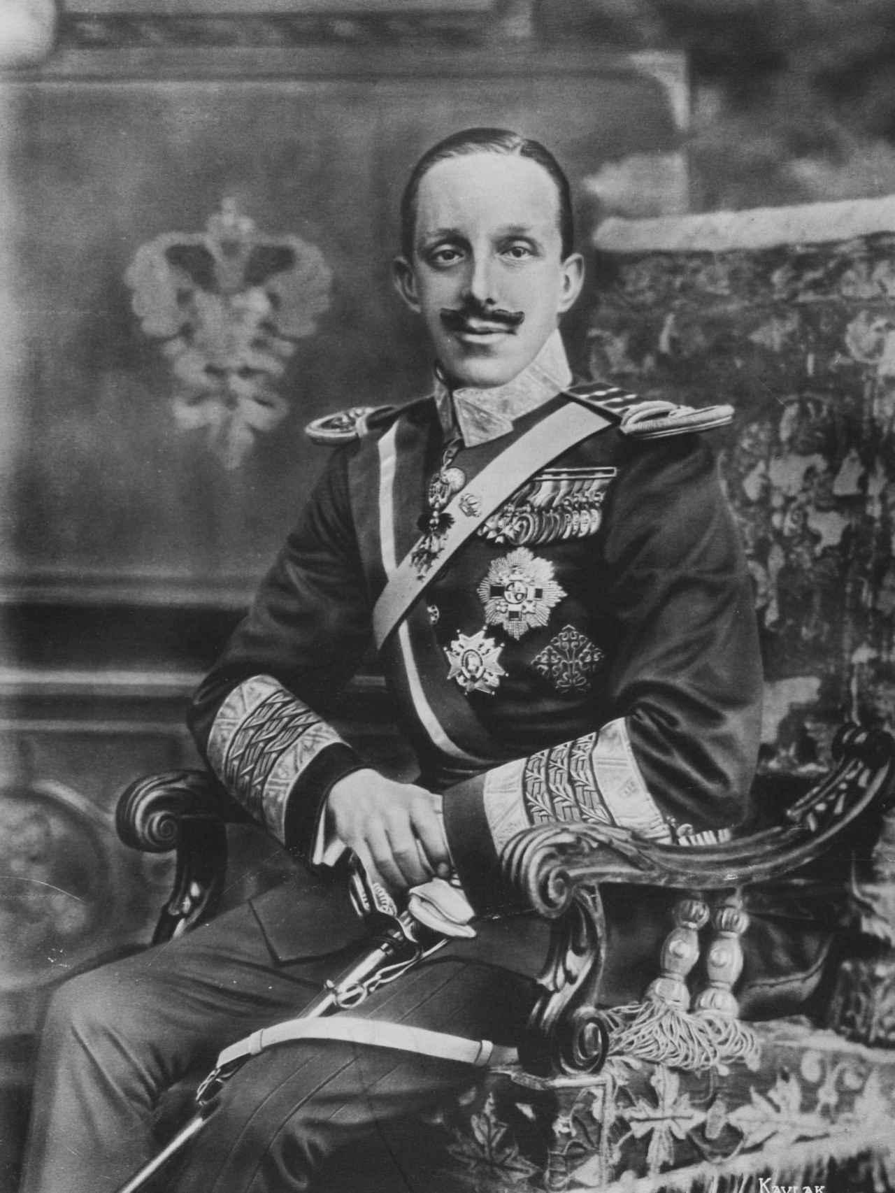Alfonso XIII, fotografiado por Kaulak en 1916.