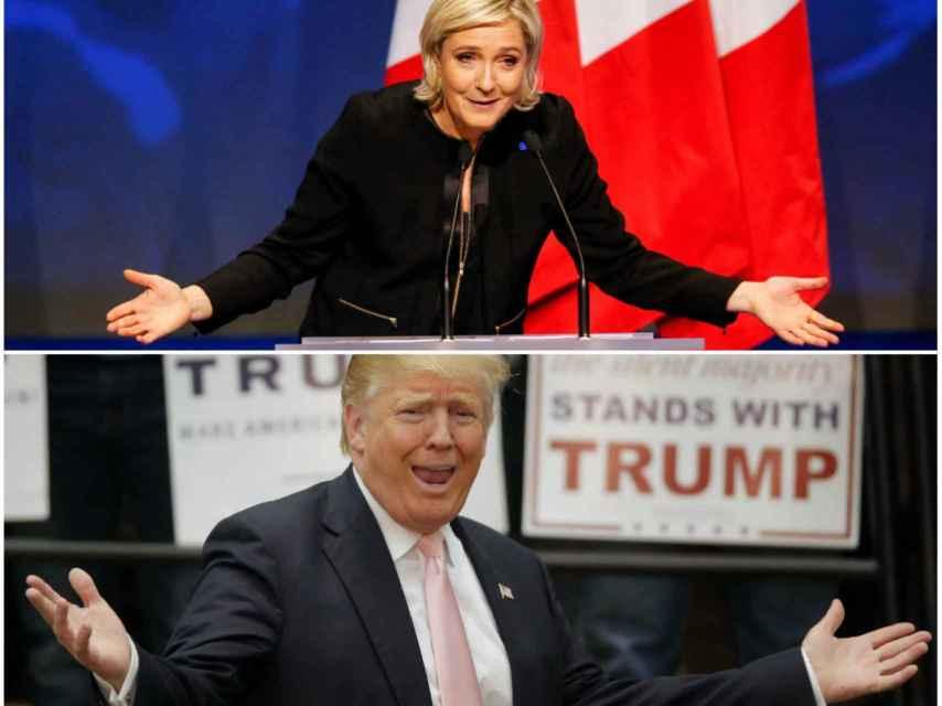 Las coincidencias entre Trump y Le Pen dificultan diferenciar quién de ellos dice qué.