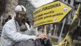 Protesta contra Garoña en Bilbao.