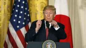 Trump, durante la rueda de prensa con el primer ministro nipón