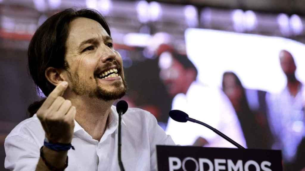 Pablo Iglesias durante un discurso.
