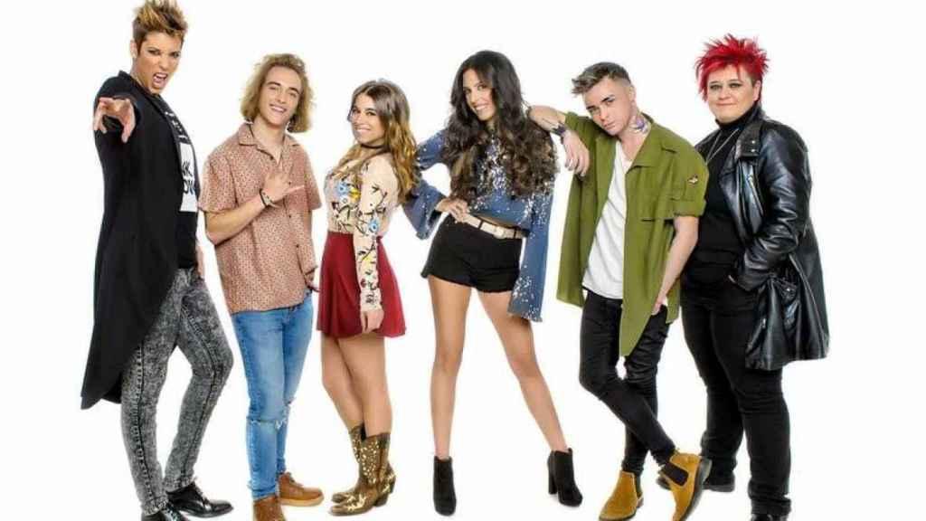 Los seis aspirantes que optaban a representar a Eurovisión.