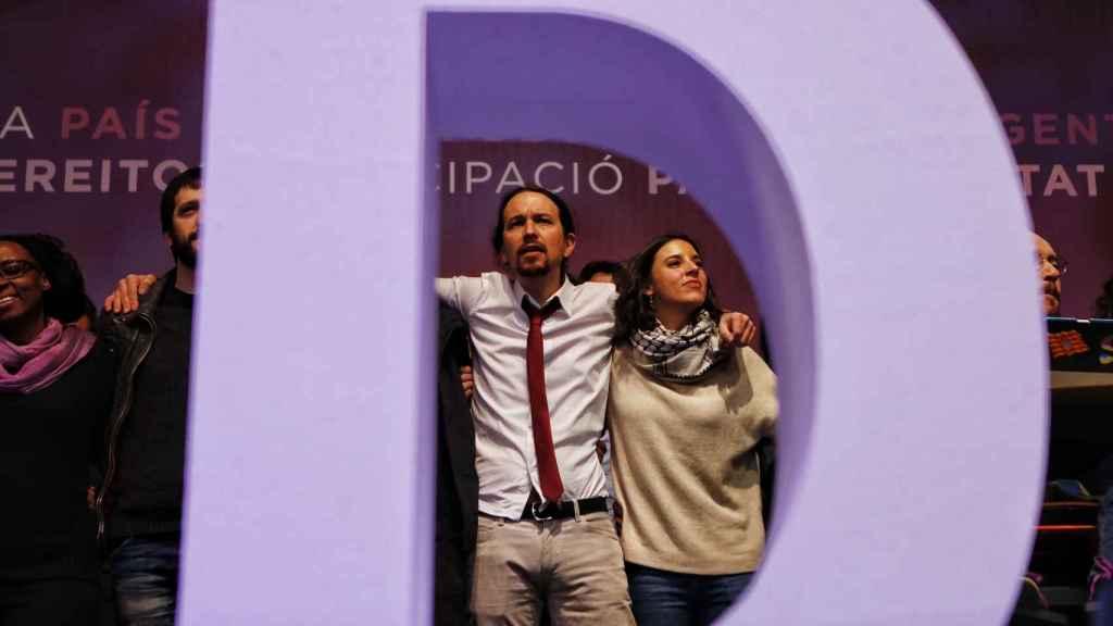 Pablo Iglesias e Irene Montero, triunfantes en Visatelegre II.