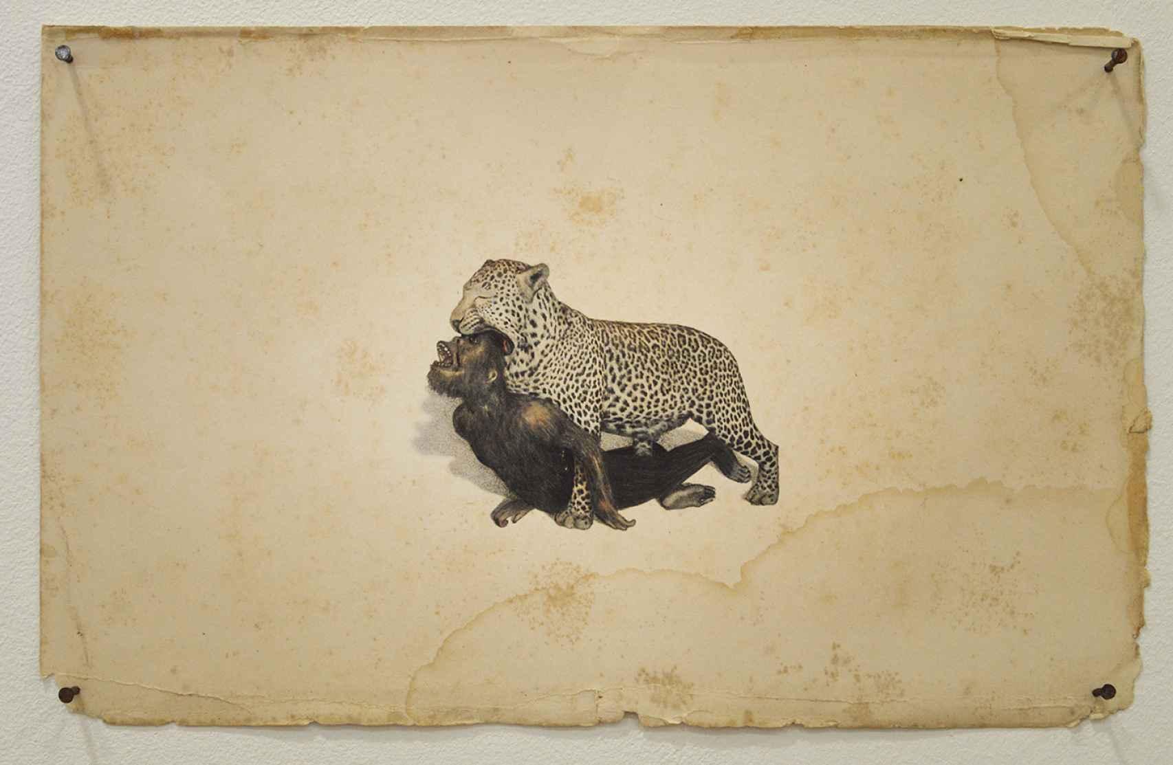 Obra de Juan Zamora incluida en Bajo el cielo de la boca de un Leopardo.