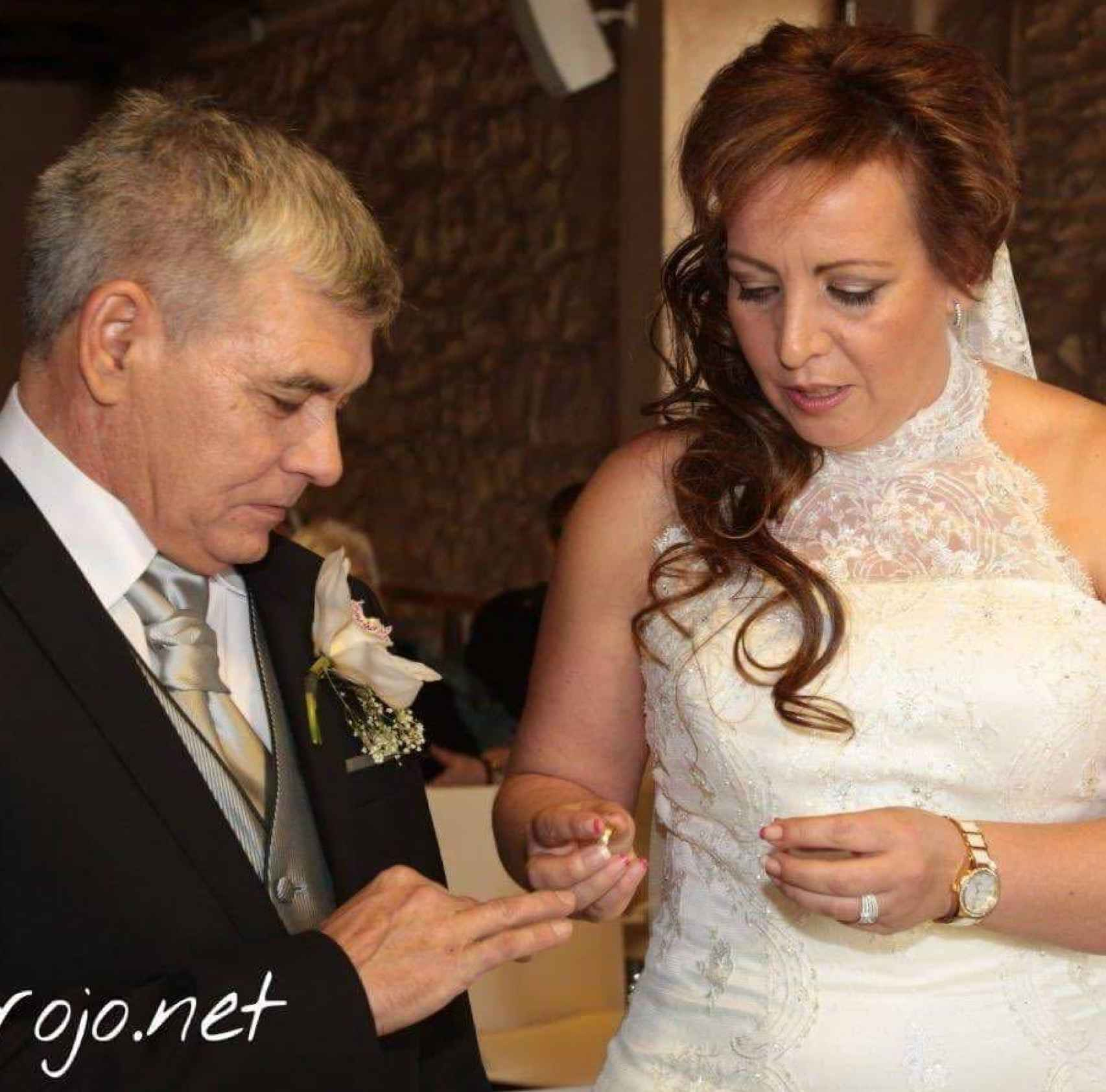 Ana Belén y Piti durante su boda hace tres años