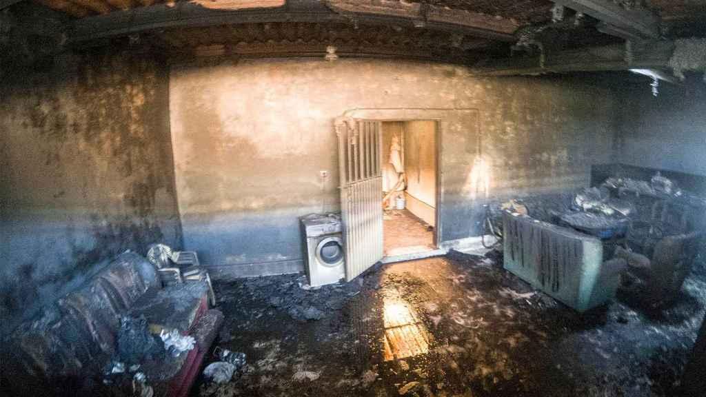 Los tres temporeros muertos por un incendio en Jaén vivían en un garaje