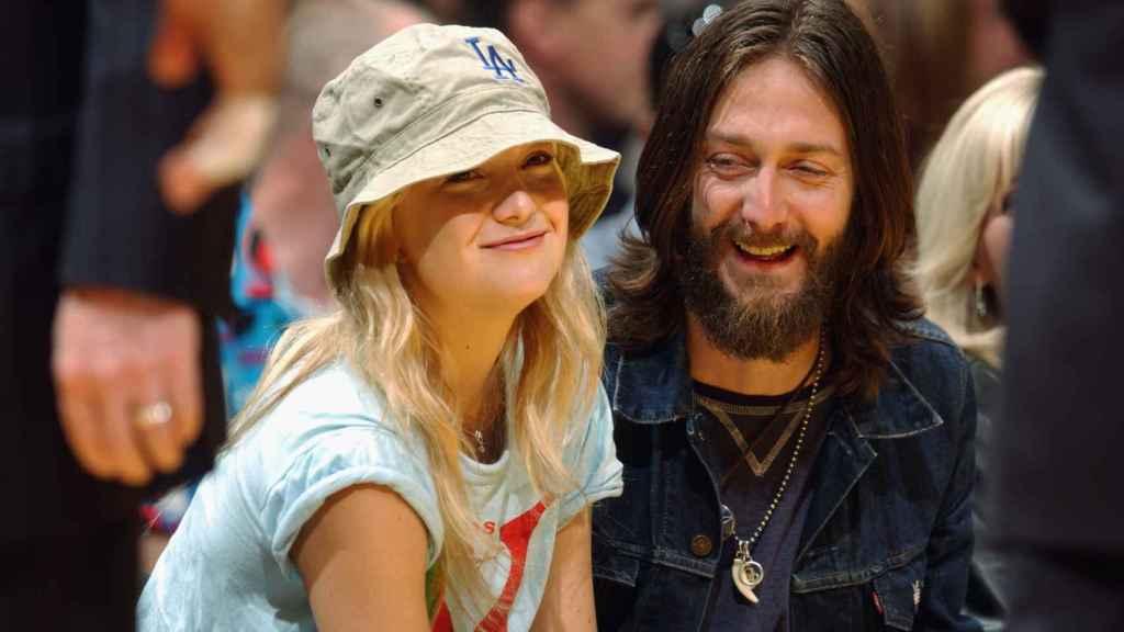 Kate Hudson con su primera marido, el cantante de The Black Crowes, Chris Robinson
