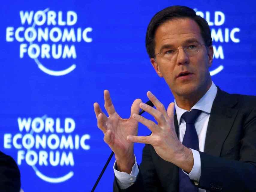 El primer ministro Rutte, en el Foro de Davos