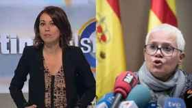 La fiscal Ana Magaldi y la periodista catalana  Lidia Heredia.