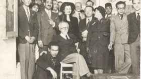 Miembros y amigos del grupo de surrealistas Art et Liberté, en 1945.