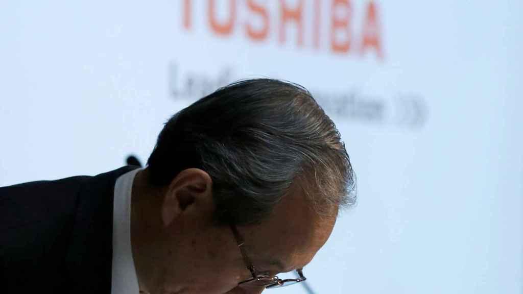 El CEO de Toshiba, Satoshi Tsunakawa.