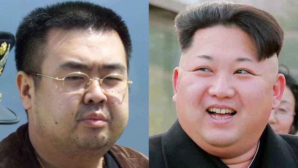 Kim Jong-nam y Kim Jong-un.