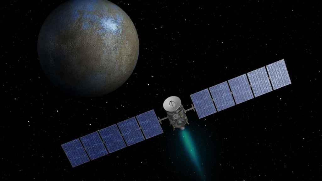 La sonda Dawn llegando a Ceres.