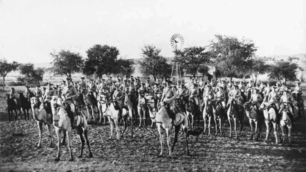 Las tropas coloniales alemanas.