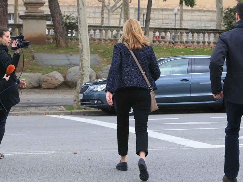 La infanta Cristina, en Barcelona el pasado diciembre