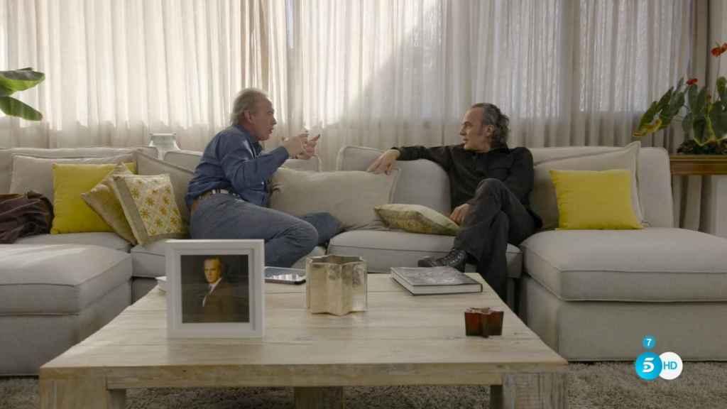 José Coronado, en un momento de la entrevista con Bertín Osborne.