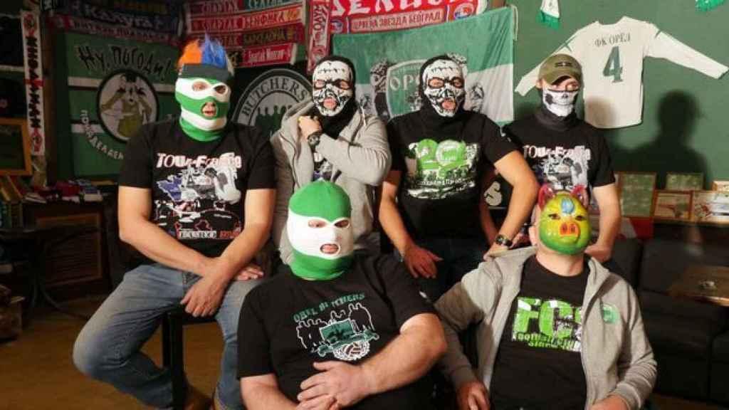 Fotograma del documental 'El ejército hooligan de Rusia' de BBC2.