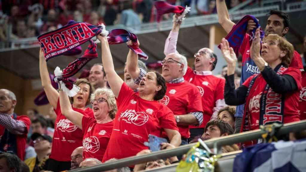 Aficionados del Baskonia en la última Copa del Rey.