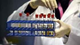 Muestras en un laboratorio antidopaje.