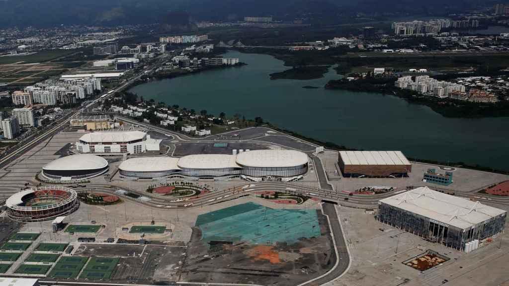 Vista aérea de la ciudad olímpica meses después de la disputa de los JJOO.