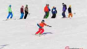 Esquiadores en San Isidro
