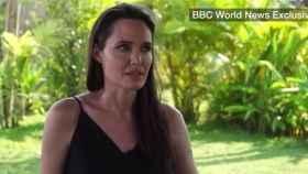 Angelina Jolie, en uno de los momentos de la entrevista.