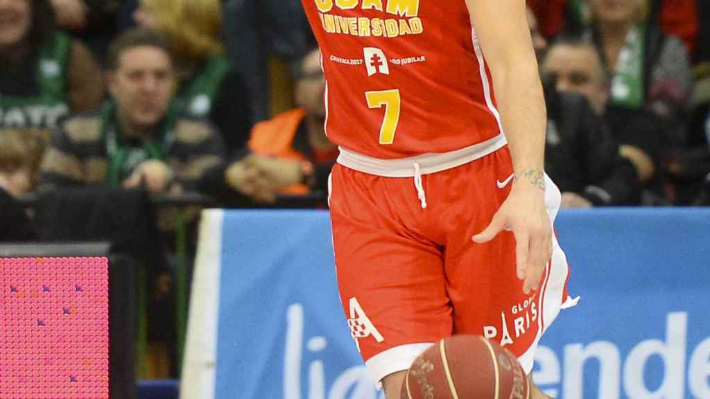 Facundo Campazzo en su último partido con el UCAM Murcia.
