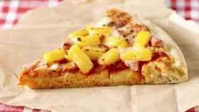 Esta porción de pizza con piña encarna El Mal.