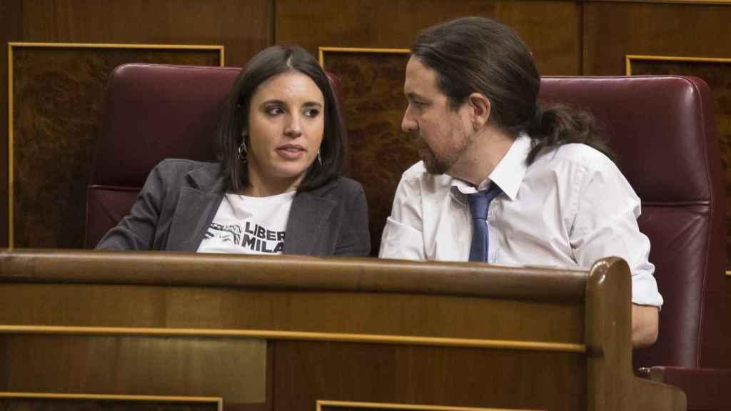 Montero e Iglesias, este martes en el Congreso de los Diputados.
