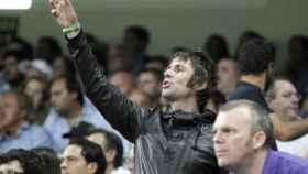 Liam Gallagher, en el Etihad durante un partido del City.