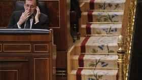 Mariano Rajoy, este miércoles antes de la reunión que mantuvo en el Congreso.