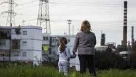 María Jesús y su hija de 5 años, a la que le detectaron un cáncer cerebral en 2016.