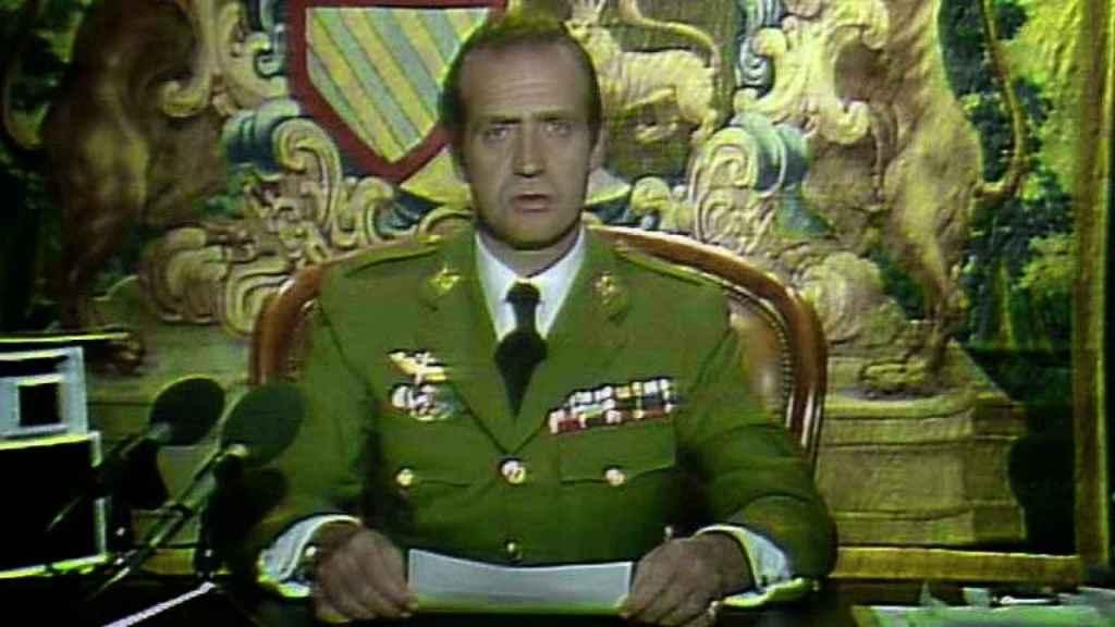 Juan Carlos I, en su comparecencia pública tras el golpe del 23-F.