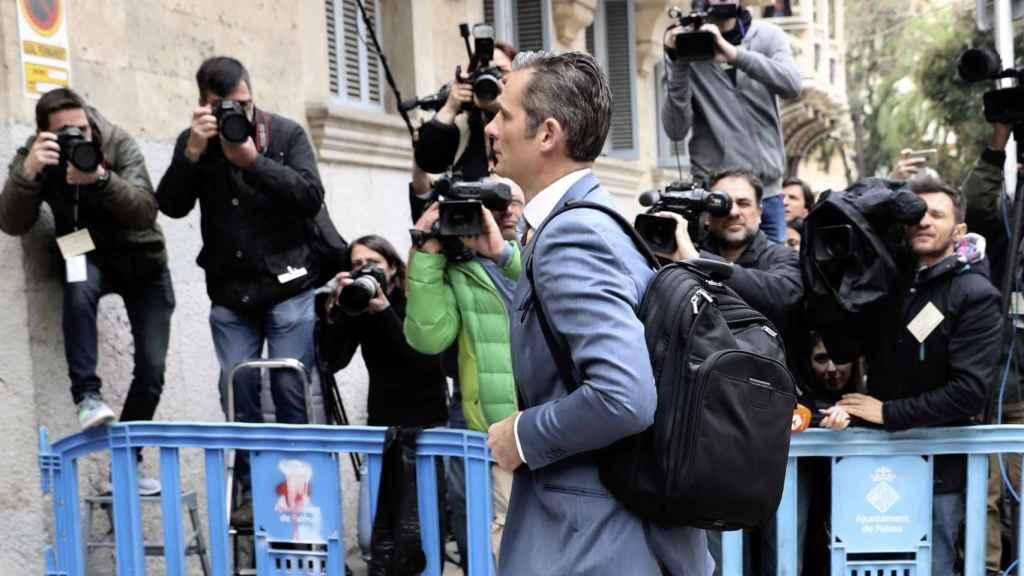 Urdangarin llegando a la Audiencia de Palma.