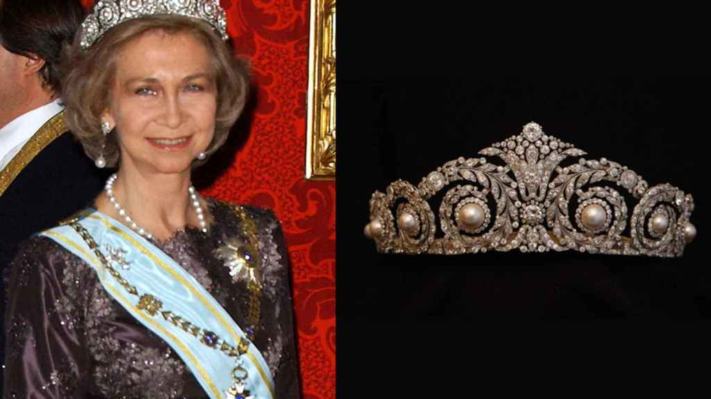 Tiara Cartier de la reina Sofía.