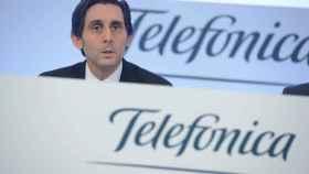 José María Álvarez Pallete durante la presentación de resultados de Telefónica.