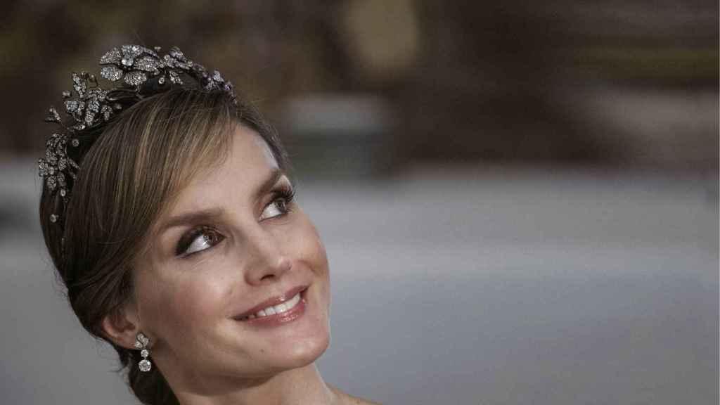 La tiara floral de la reina Letizia.