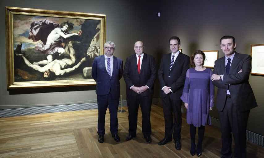 De izquierda a derecha: Miguel Falomir, Mark Roglán, Gabriele Finaldi, Anabel Morillo y Miguel Zugaza.MNP