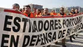 Protesta de estibadores.