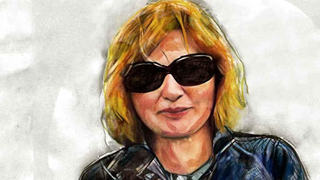 Ilustración de Mariló García Pérez basada en una fotografía de la víctima.