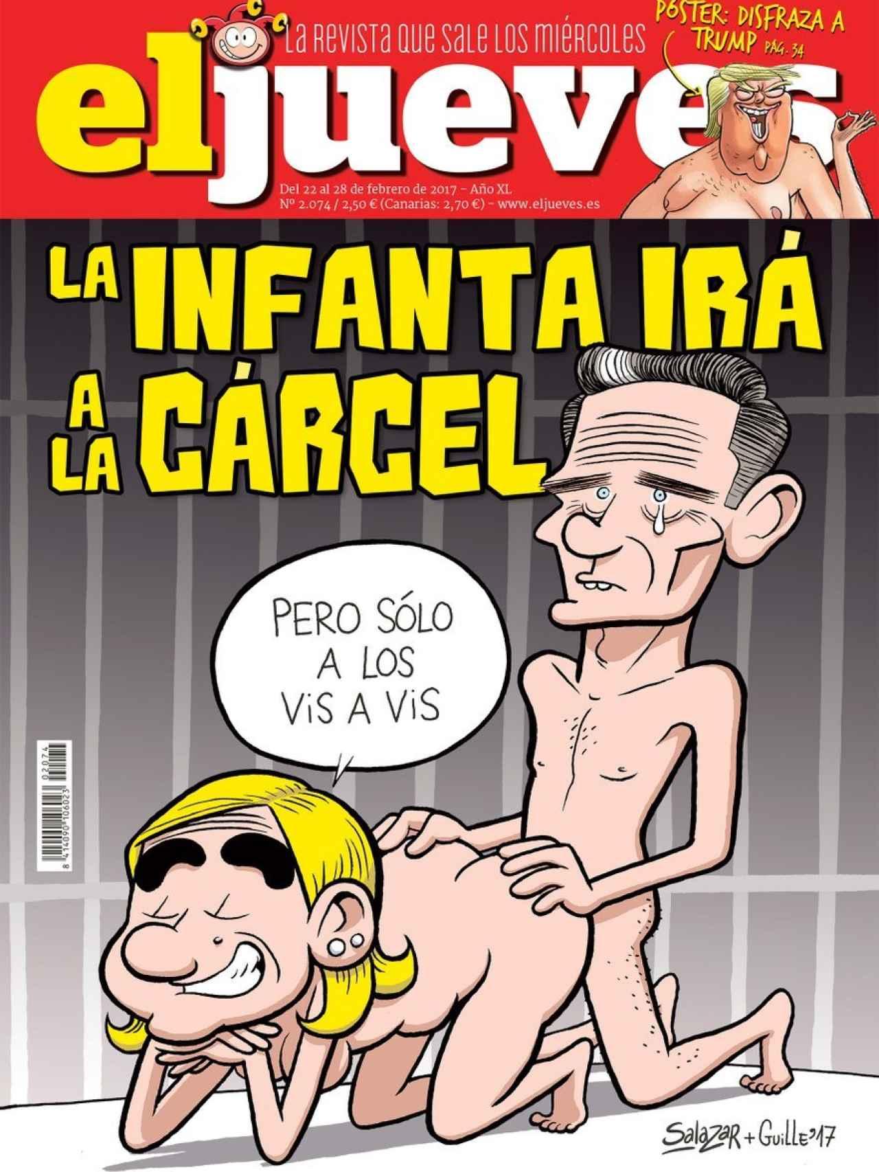 La portada del último número de El Jueves es muy similar a la que fue secuestrada en 2007 por el juez Del Olmo