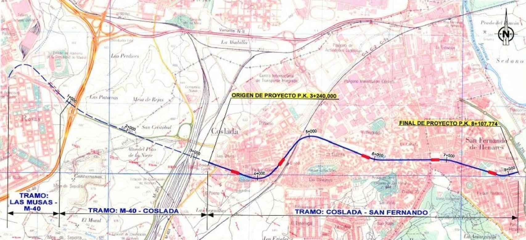 El proyecto original de ampliación de la Línea 7 de metro.
