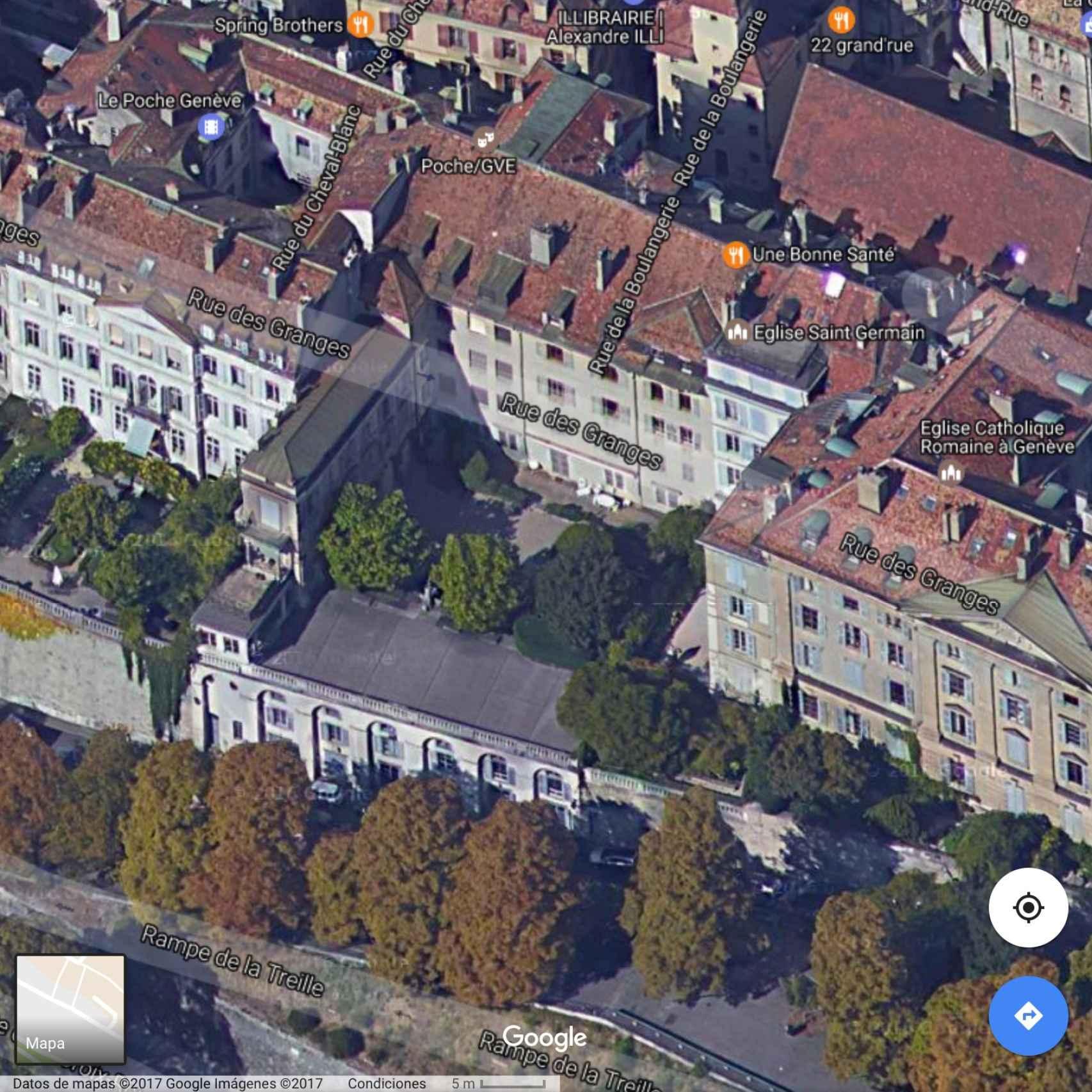 Vista aérea del barrio donde vive la familia Urdangarin de Borbón